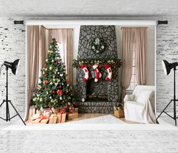 Printed brick PhotograPhy backdroP online shopping - Dream x5ft Brick Fireplace Backdrops for Holiday Photography Indoor Curtain Backgrounds for Children Party Photo Professional Shoot Studio