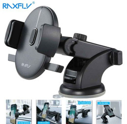 Wholesale RAXFLY Windshield Mount Car Phone Holder in Car For Samsung S9 S8 Plus Rotation Car Holder For iPhone X Phone Stand Support