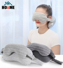 Pillow Mask NZ - Creative Pillow Multi-Purpose Eye Mask Neck Throws Pillow Sleeping Mask for Travel Foam Particles Fillling Stripend