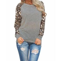 $enCountryForm.capitalKeyWord Australia - Women Leopard Printed O Neck Long Sleeve T-shirt Ladies Casual Spring Autumn Tops Black White Gray S-5XL