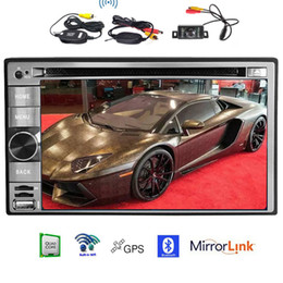 usb touch display Australia - Wireless Rear Camera+Android 6.0 quad-core CPU Car DVD Player Automotive GPS Navigation Head Unit 6.2'' Display 1080P USB SD Wifi Mirrorlink