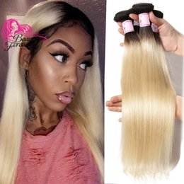 Malaysian Straight Hair Weave Australia - Beauty Forever T1b 613 Malaysian Silk Straight Hair Bundles 3 Pcs Blonde Fashion Weave Hair Extension Wholesale Remy Human Hair Cheap Bulk