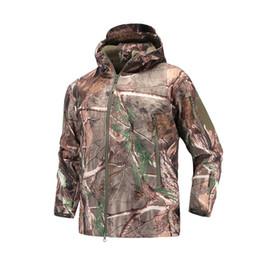 9bd8aa734b9 Shark Skin Soft Shell V4 Military Tactical Jacket Men Waterproof Windproof  Warm Outdoors Jacket Camouflage Hooded Camo Clothing