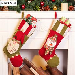 $enCountryForm.capitalKeyWord NZ - Christmas Decorations for Tree Santa Claus Snowman Christmas Stocking Tree Ornaments Gift Bag Xmas Decor Santa Sacks
