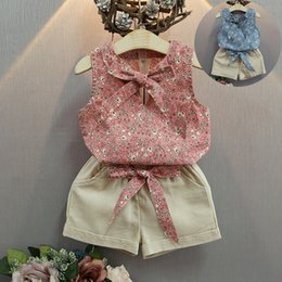 $enCountryForm.capitalKeyWord NZ - 2018 Baby Girl Clothes floral Fashion Cartoon Girls Summer Set Clothes Baby Suits Kids T Shirt +Pants Children Clothing Set