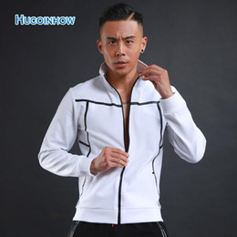 $enCountryForm.capitalKeyWord Canada - Wholesale-HUCOINHOW Man Sports Jacket Male Korean Slim Running Fitness Jacket Men's Sports Top Clothing Fitness Outerwear Bowling Jacke