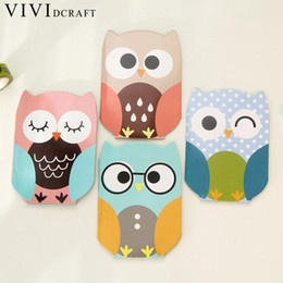 Owl Stationery Wholesale NZ - Vividcraft Korean Stationery Cartoon Animal Notebook Notepad Office Supplies School Cute Cartoon Owl Filofax Notebook Diary