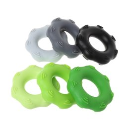 $enCountryForm.capitalKeyWord UK - Silicone Hand Finger Trainer Exerciser Gripper Strengthener Ring Forearm Wrist Muscle Power Training Fitness Gym Grip