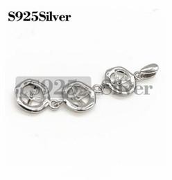 Подвеска с жемчужным основанием и тремя заготовками из стерлингового серебра 925 пробы с тремя жемчужинами