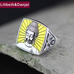 sterling silver dragon rings 2019 - Buddha Adjustable Ring 100% Real 925 sterling silver Jewelry Animal Dragon Tiger Ring Men Women Jewelry 2018 New Arrival