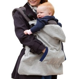 $enCountryForm.capitalKeyWord UK - Baby Carrier Cover Infant Toddlers Coat Universal Hoodie Winter Carrier Cover for Baby Sling Backpack Hooded Cloak