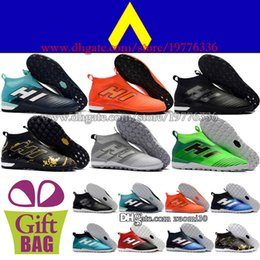 Indoor Football Turf Canada - High Tops Soccer Cleats Turf ACE Tango 17 IN TF Soccer Shoes Mens Pure Control Indoor Football Boots Black Orange Grey Gold Green Blue Red
