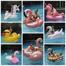 water floating beds 2018 - 17 Styles Giant Inflatable Unicron Floats Tubes Pool Swimming Toy Ride-On Pool Unicron Floating Bed Swim Ring for Water