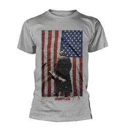 $enCountryForm.capitalKeyWord UK - Johnny Cash 'American Flag' T-Shirt - NEW & OFFICIAL! mens pride dark?t-shirt white black grey red trousers?tshirt