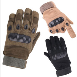 $enCountryForm.capitalKeyWord NZ - Leather Tactical Gloves Motorcycle bike cycling gloves full finger protective gloves outdoor sport Anti-skid fitness gym glove mitts