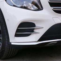 Cromado del frente de la luz antiniebla de la lámpara de ajuste de la cubierta pegatinas para Mercedes Benz GLC clase X253 2017 2018 GLC260 GLC300