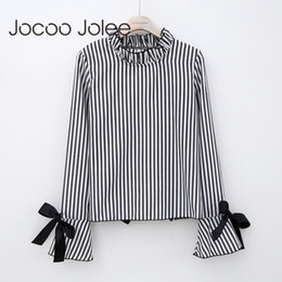 5c4069c5c3f30 Wholesale peter pan collars online shopping - Jocoo Jolee Sexy Backless  Striped Blouse for Women Hollow
