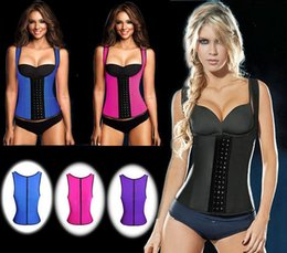 $enCountryForm.capitalKeyWord Australia - Women Curve Top Three-row Buckle Double Shoulder Belt Body Clothing Zipper Waist Shaper Corsets Court Clothing