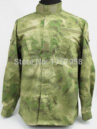 $enCountryForm.capitalKeyWord NZ - US Army A-TACS FG Camo ACU style Uniform Set Tactical Combat Uniform set For Tactical Gear