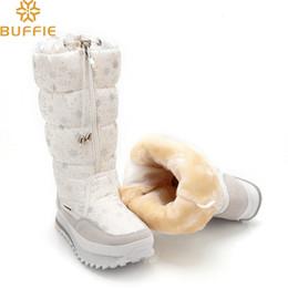 aab3d9b76a 2019 2018 Botas de invierno Botas altas de nieve para mujer Zapatos de  felpa Calientes Tallas grandes 35 a 42 grandes botas de mujer de fácil uso,  ...