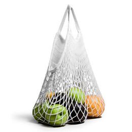 Turtle Bags Wholesale UK - Large Capacity Mesh Net Turtle Bags String Shopping Bag Compact Size Reusable Women Travel Grocery Storage Handbag