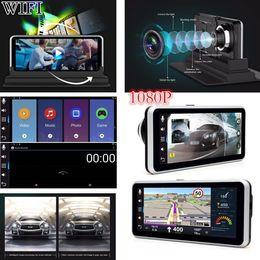 "Camera Free Shipping China Australia - WIFI HD 1080P 6.5"" GPS Navigation Android Car DVR Dual Lens Camera Recorder FM Free Shipping"