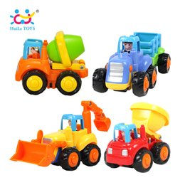 Chinese  (Set of 4) Classic City Building Construction Series of Children's Toys Mini Car Smiley Baby Truck Back Car Inertial Gifts manufacturers