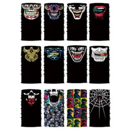 animal face masks Australia - Skull Bandana Motorcycle Bicycle Outdoor Sports Neck Face Mask Full Face Head Hood Protector Bandanas Magic Headband Scarves Accessories