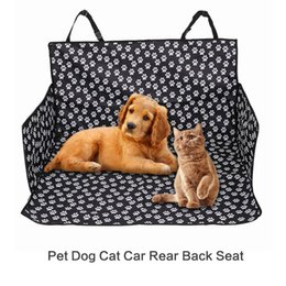Wholesale new arrival Pet Dog Cat Car Rear Back Seat Carrier Cover Mat Blanket Hammock Cushion Protector Polyester Waterproof Mat Adjustable Belt