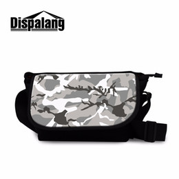 Discount small side bags - Dispalang Personalized Messenger Bags for Men Grey Camouflage Pattern on Small Side Bags Classic Crossbody Pouch for Tee