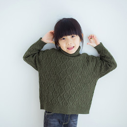 $enCountryForm.capitalKeyWord Australia - Winter Knit Sweater for Girls Baby Crochet Turtle Neck Sweater Solid Color Baby Jumper Sweaters 18110601