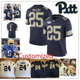 f66e9c0e4 Custom NCAA James Conner College Football Jersey LeSean McCoy Larry  Fitzgerald Q.Henderson Dion Lewis Darrelle Revis Pitt Panthers Jersey