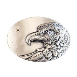 Original Vintage Silver Plated Oval Sun Eagle Grey Eye Belt Buckle  Gurtelschnalle Boucle de ceinture BUCKLE-WT149SL-GY 74901b5305c
