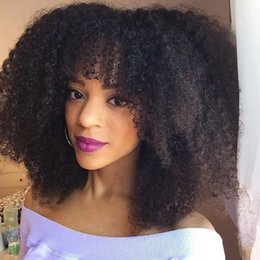 $enCountryForm.capitalKeyWord Australia - Afro Kinky Curly Lace Front Wig With Baby Hair Peruvian Unprocessed Human Hair Glueless Full Lace Wig LaurieJ Hair