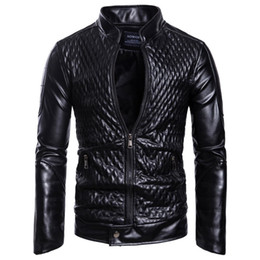 China New Winter Men'S Leather Jacket Coat Classic Leather Motorcycle Jacket Leisure Clothing Plus Velvet Stand Collar supplier leisure plus suppliers