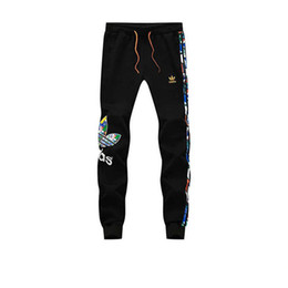 Плюс размер L-5XL мужские дизайнер бегунов новый полосатый Письмо печати спортивные брюки для мужчин мода хлопок мужчины тренировочные брюки бесплатная доставка на Распродаже