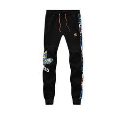 Plus la taille L-5XL mens designer joggers nouvelle lettre rayée imprimer un pantalon de sport pour hommes mode coton hommes pantalons de survêtement livraison gratuite en Solde