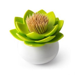 $enCountryForm.capitalKeyWord UK - Lotus Cotton swab box lotus cotton bud holder base room decorate   Lotus Toothpicks holder Toothpick case