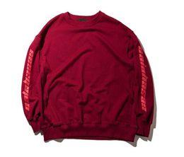 Coolest high tops online shopping - Autumn Crew Neck Letter Print Kanye West Hoodies Men Women Cool Pullover Sweatshirts Hip Hop High Street Long Sleeved Hoodies Tops