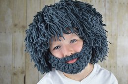 $enCountryForm.capitalKeyWord Canada - European and American Wig Bearded Creative Wool Hat Handmade Knit Funny Head on The Straw Straw Hat Autumn and Winter Explosion Models