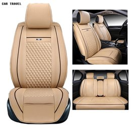 Discount toyota camry seats - pu leather Universal car seat Cover for Toyota Corolla Camry Rav4 Auris Prius Yalis Avensis 2014 sticker accessories car