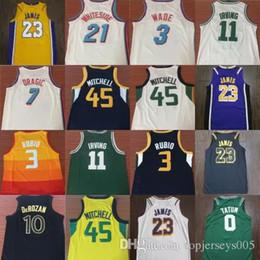 401abdd75a6d 2019 23 LeBron James 45 Donovan Mitchell 3 Dwyane Wade 10 DeRozan 21  Whiteside 7 Dragic 11 Irving 3 Ricky Rubio Basketball Jerseys