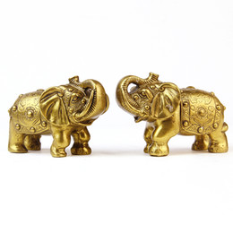$enCountryForm.capitalKeyWord UK - Kaiguang town house feng shui pure copper elephant ornaments lucky elephant business crafts