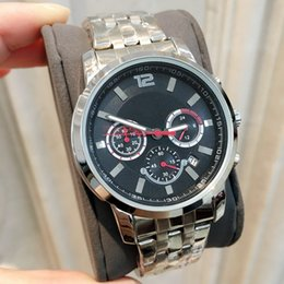Best stainless steel watches online shopping - All Subdials Work AAA Mens Watches Stainless Steel Quartz Wristwatches Stop watch Luxury Watch Top Brand Relogies For Men Relojes Best Gift