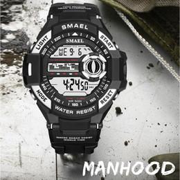 Big Watch Men Waterproof NZ - SMAEL Watch Men Digital Top Brand Luxury relogio masculino Big Sport Watches for Men Waterproof 1516B Wtaches Sport
