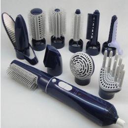 Air Brush Hair Styler NZ - 10 in 1 Hot Air Hair Styler 2 Speed Pro Hair Straightener & Curlers Iron & Dryer & Hair Brush Set Electric Styling Tools