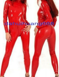 $enCountryForm.capitalKeyWord NZ - Sexy 9 Color Shiny PVC Suit Catsuit Costumes Unisex Sexy PVC Body Suit Costumes No Head Hand Foot With Back Long Zipper DH207