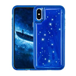 Chinese  For Ip x Case Hybird bling crystal Jelly Phone TPU PC Pressure Reduction Back Cover Cases For iP 6 7 8 Plus case by niubility manufacturers