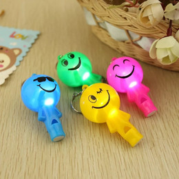 $enCountryForm.capitalKeyWord Australia - Cute smiling face small man whistle light LED key chain lamp pendant luminous toy