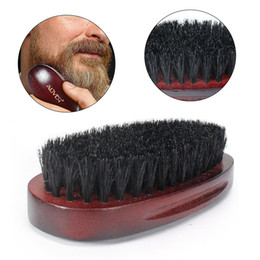 shaved hair styles NZ - eard Combs Beard Brush Shaping Sexy Man Gentleman Beard Trim Template Grooming Shaving Comb Styling Tool Wild Boar Bristles
